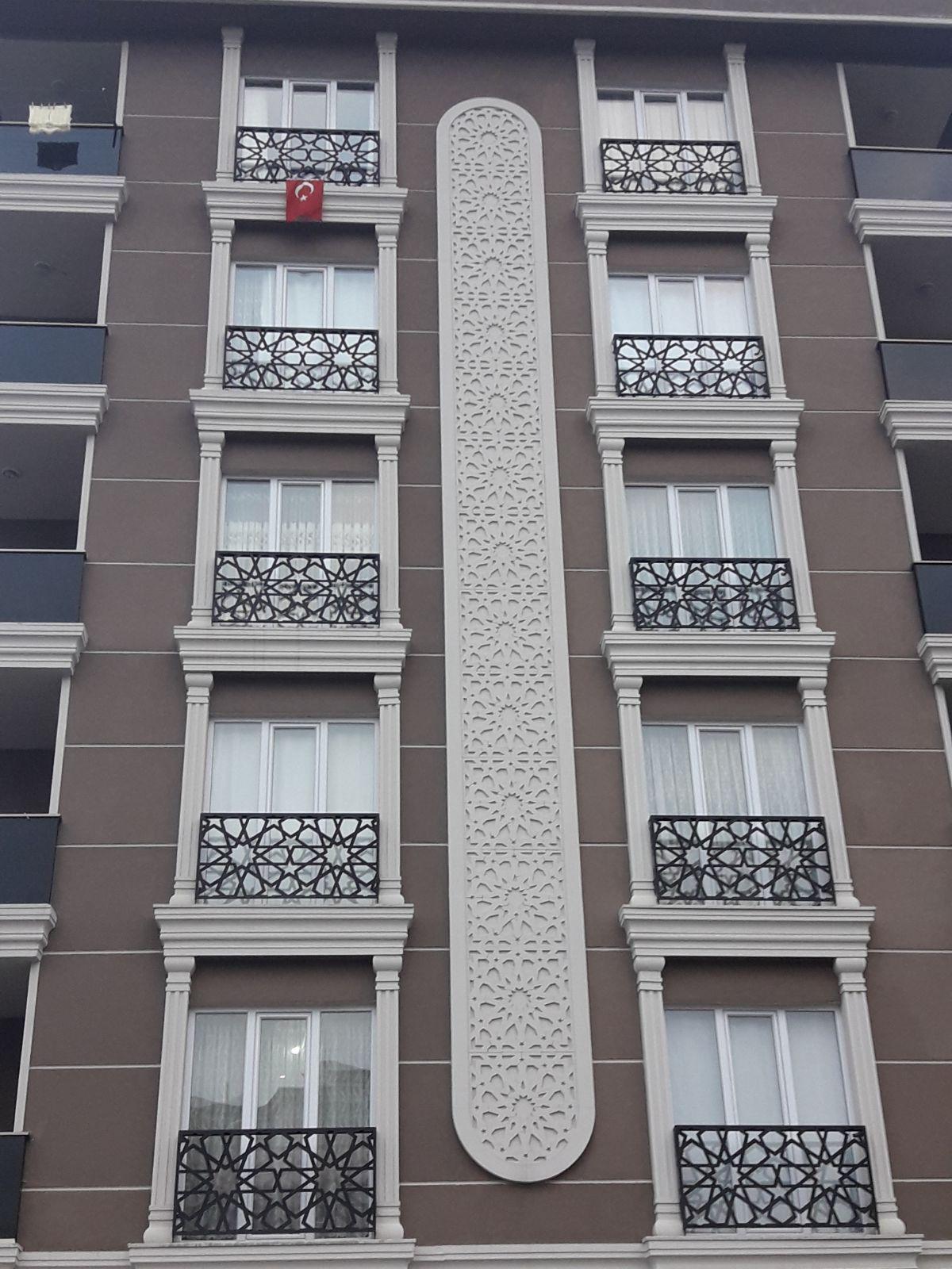 Lazer Kesim Motif Duvar Üstü Korkuluk Ferforje Balkon ... pour Salon De Jardin Bas Aluminium