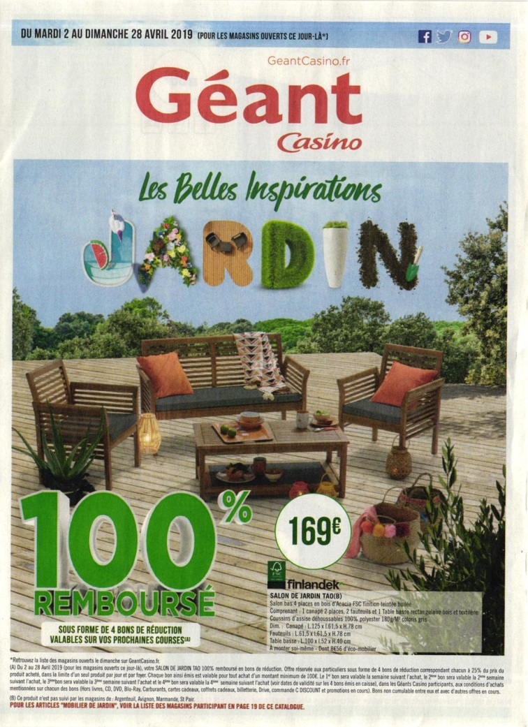 Le Bon Plan Geant Casino - L'annuaire Hoodspot serapportantà Salon De Jardin Geant Casino