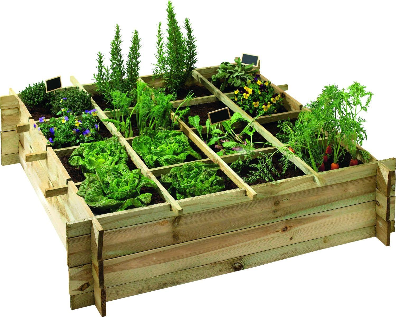 Le Carré Potager : Un Petit Jardin Hors Sol Très Facile À ... à Jardin Au Carré