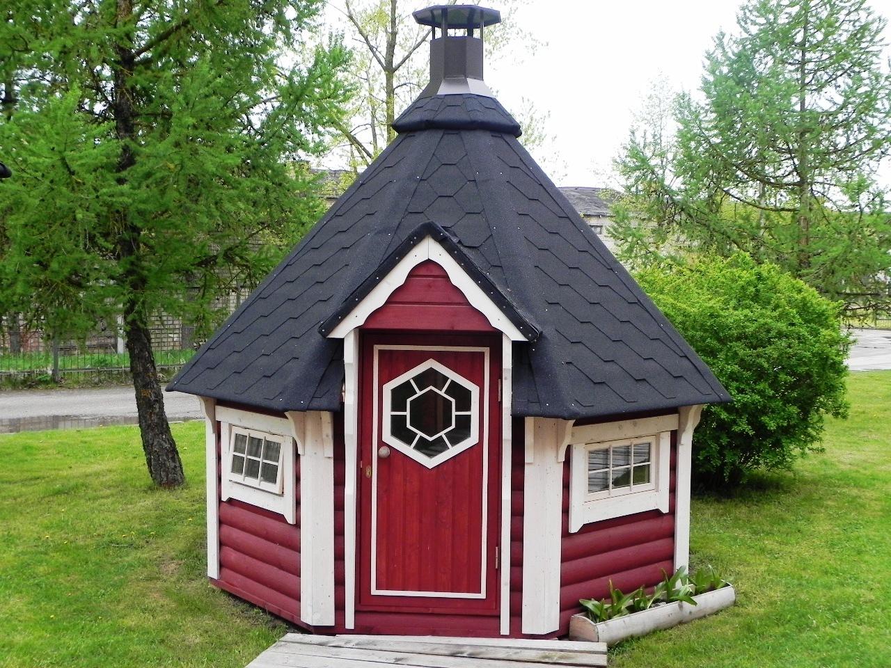 Le Kota Grill Finlandais 6,9M2 Avec Barbecue Et Le Kota ... intérieur Abri De Jardin Finlandais