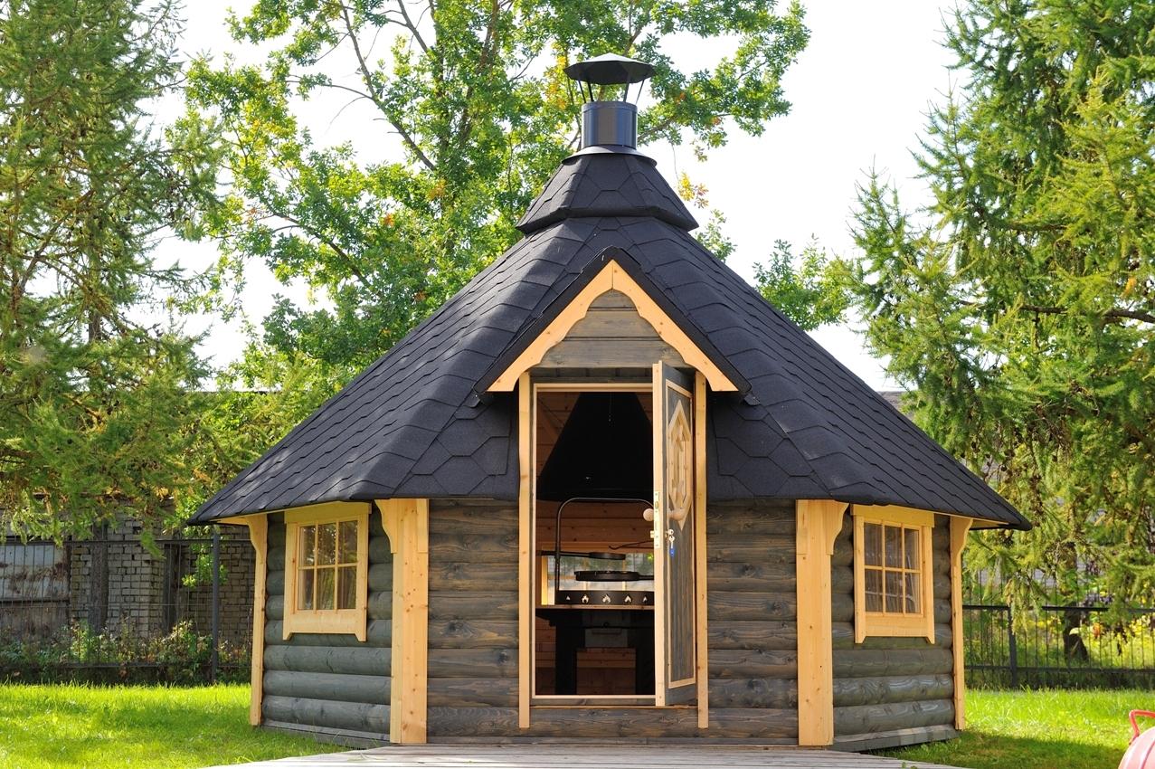 Le Kota Grill Finlandais 9,2M2 Avec Barbecue Et Le Kota ... destiné Abri De Jardin Finlandais