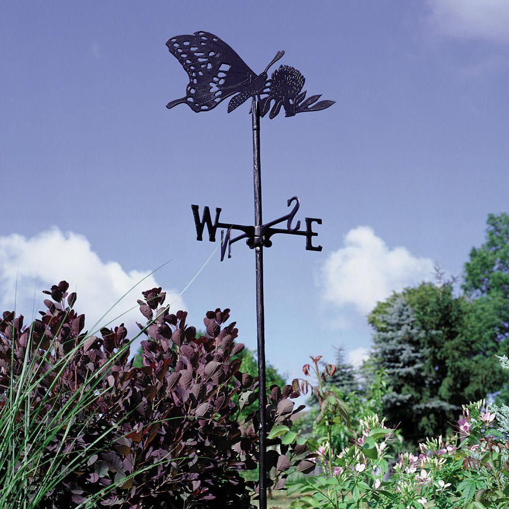 Le Papillon - La Girouette De Jardin - Noir encequiconcerne Girouette De Jardin