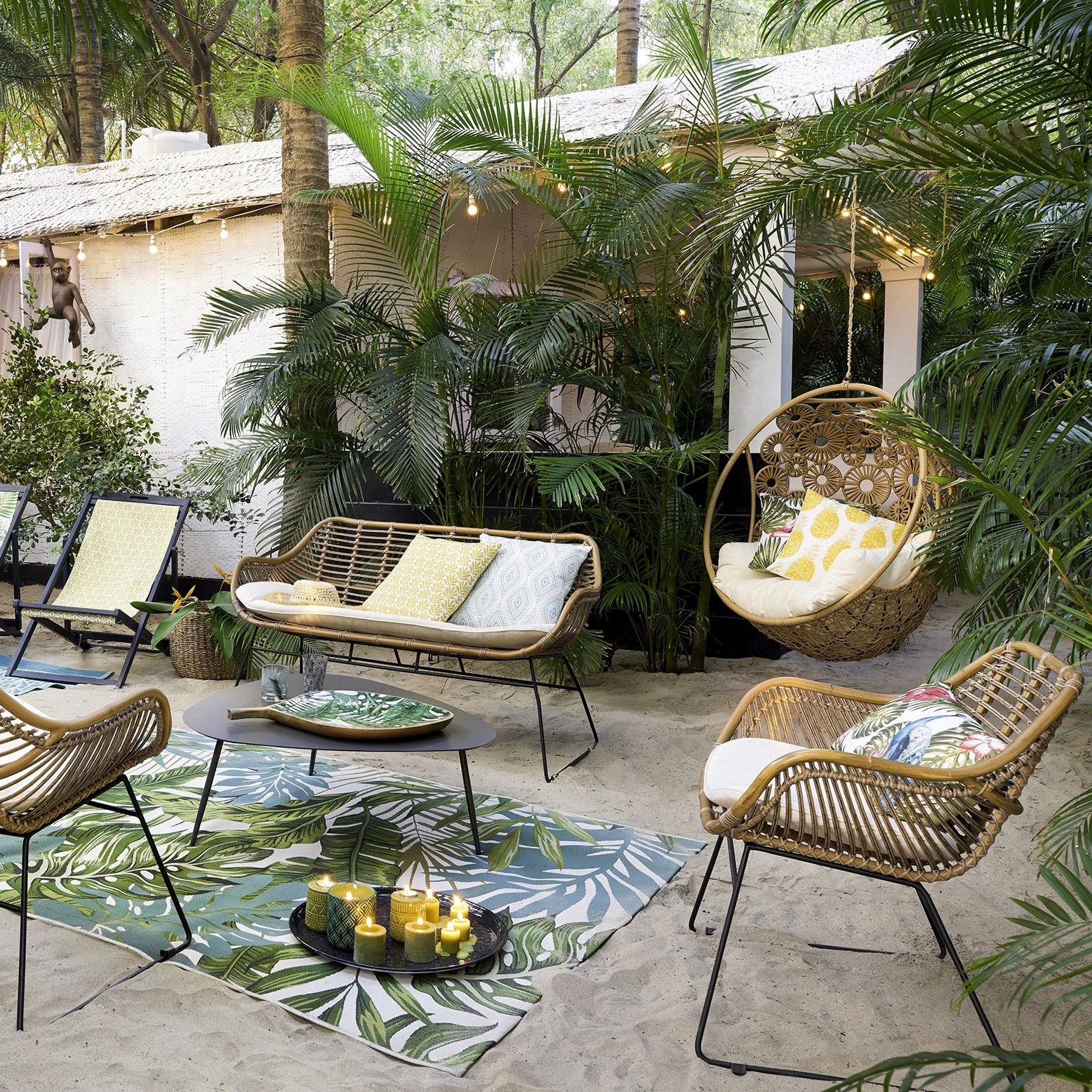 Le Style Scandinave Envahit Aussi La Décoration Du Jardin De ... serapportantà Salon De Jardin Intermarché