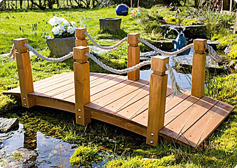 Le Summum Pour Votre Jardin - Le Pont Avec Main Courant ... encequiconcerne Pont En Bois Pour Jardin