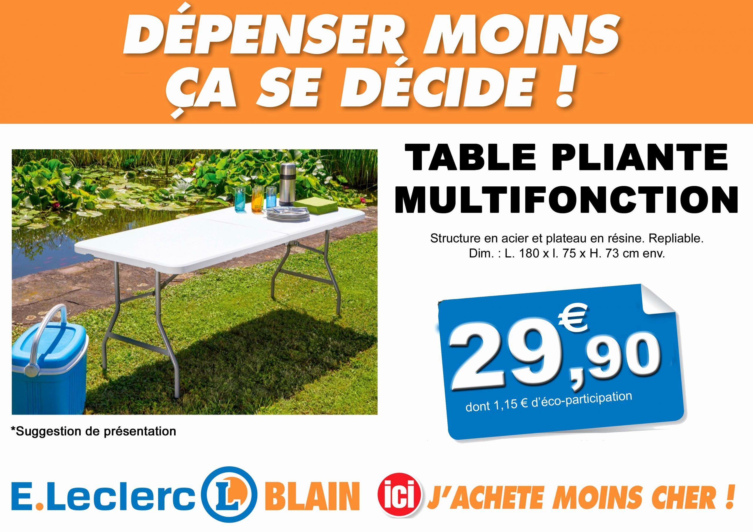 Leclerc Table Pliante Frais Meilleur Charmant Anti Crise ... pour Salon De Jardin Leclerc Catalogue