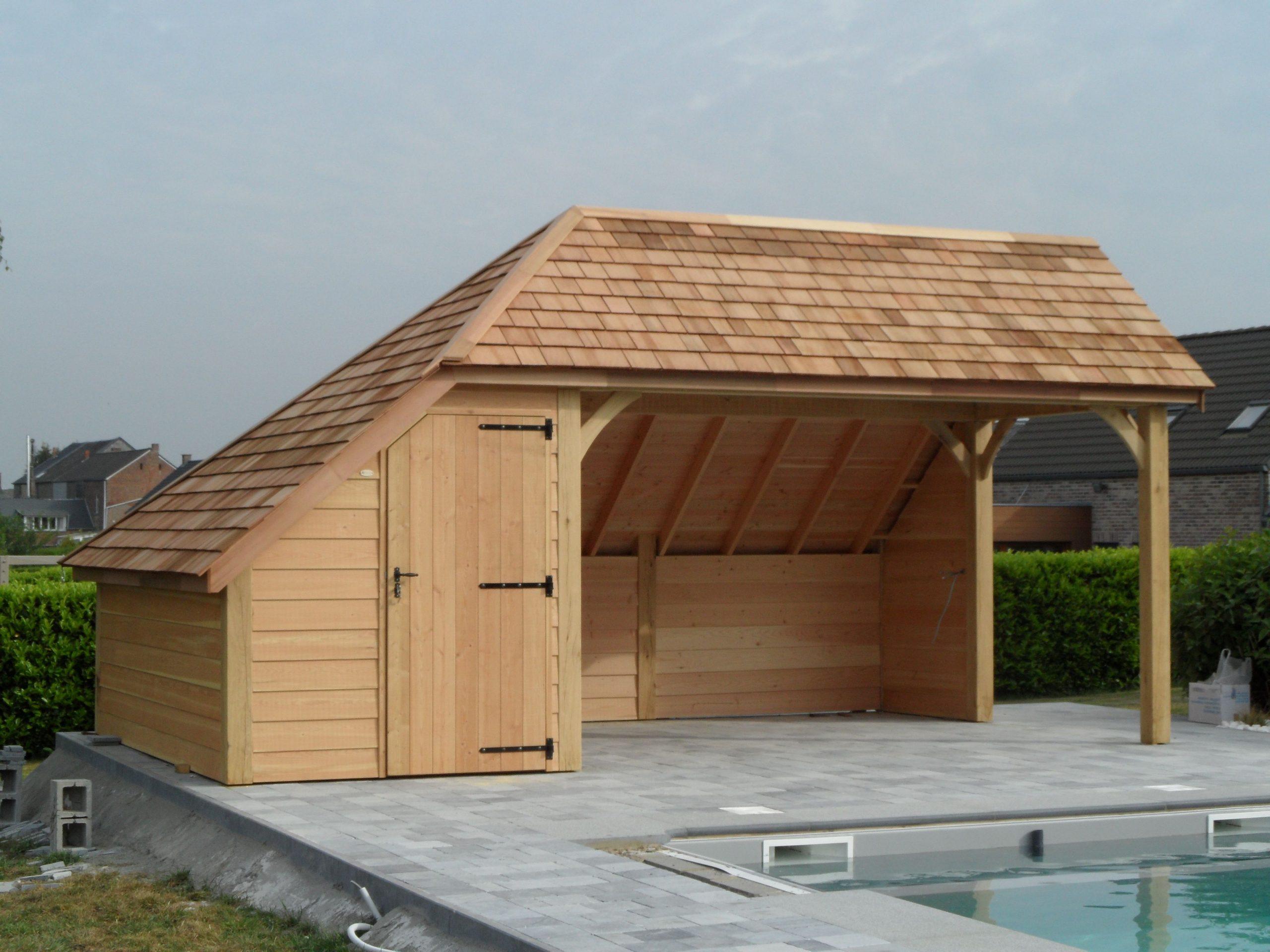 L'élaboration D'abris À Piscine Sur Mesure Ou Cabane De ... intérieur Abris De Jardin Belgique