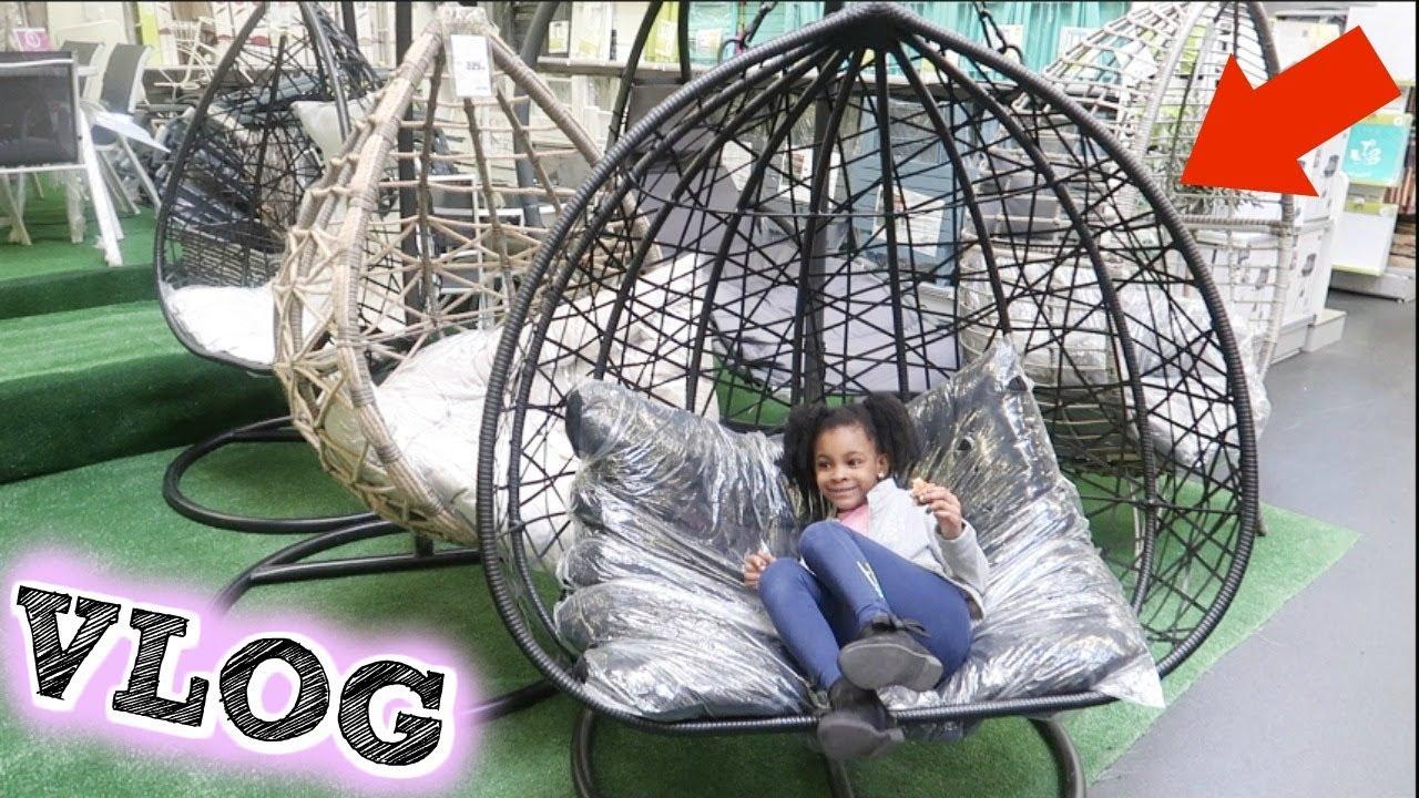 Les Fauteuils Oeufs Suspendus Gifi Sont La ! Shopping ,vlog De Maman destiné Oeuf Suspendu Jardin