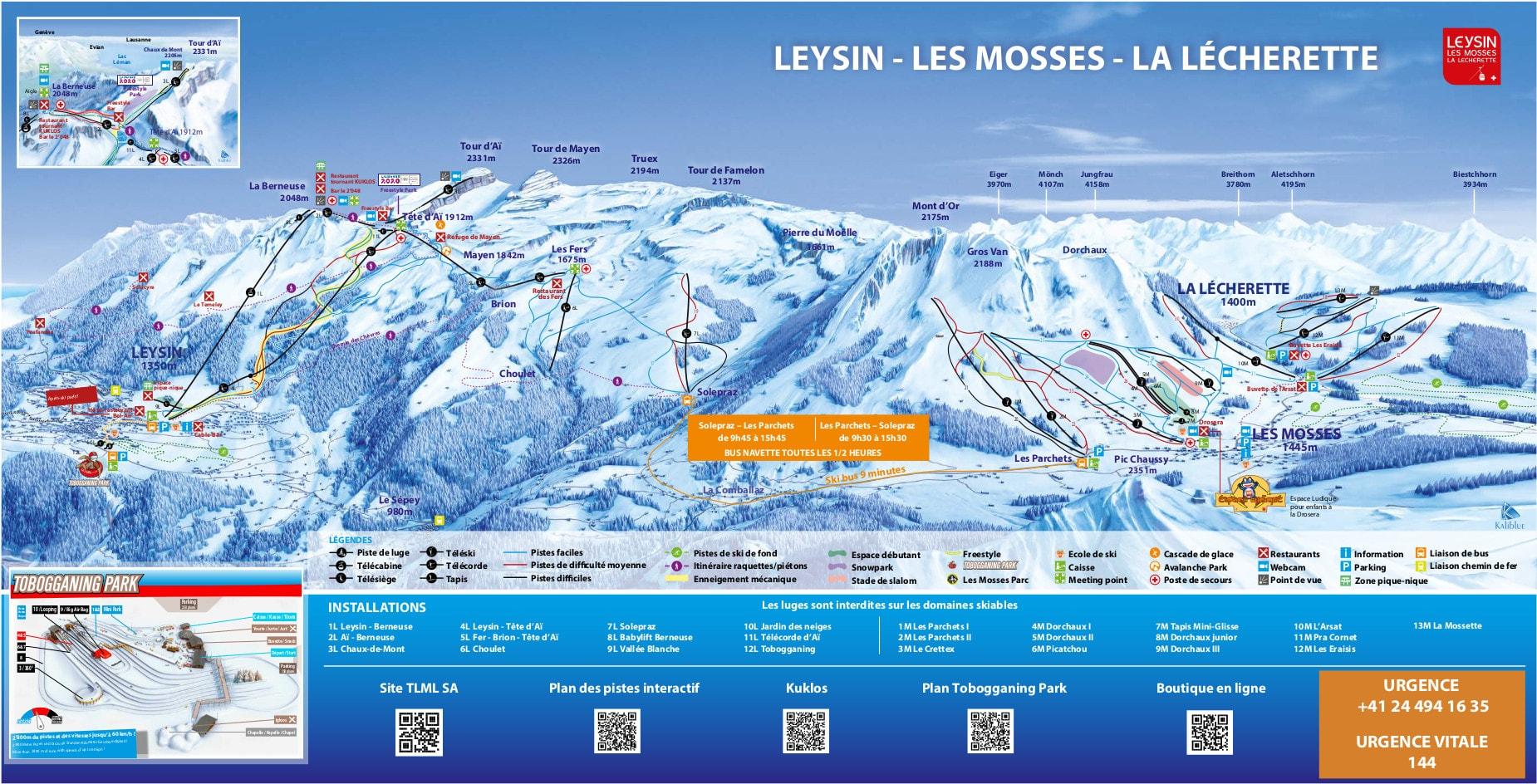 Leysin Ski Map Free Download tout Chaux Jardin