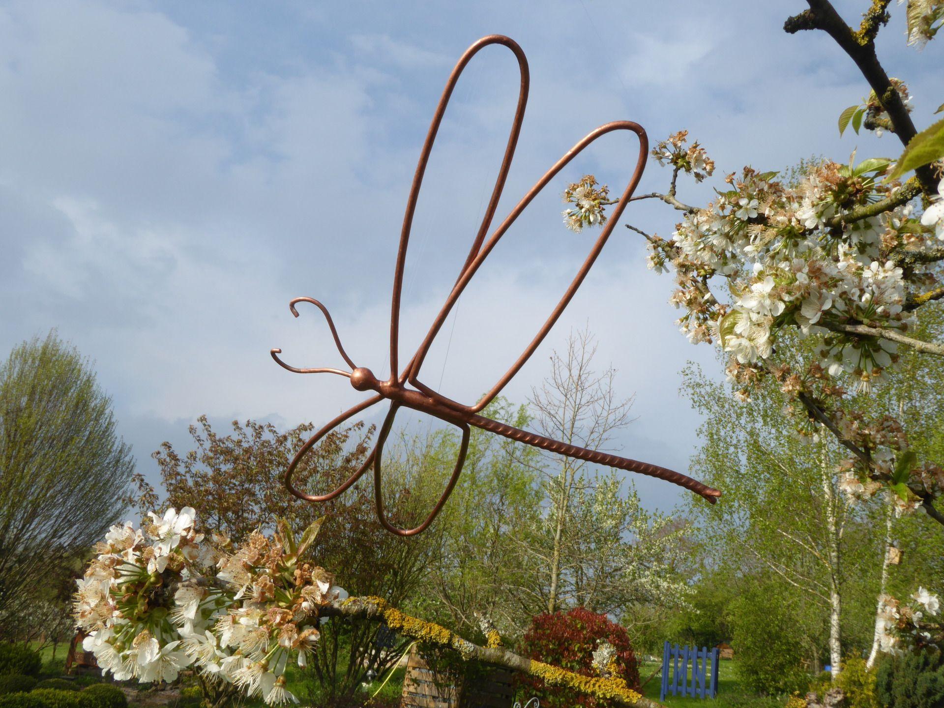Libellule En Fer Forgé Pour Décoration De Jardin Ou Autre ... concernant Decoration De Jardin En Fer Forgé