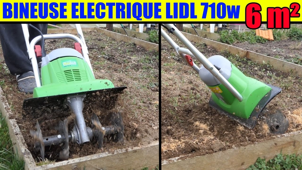 Lidl Bineuse Electrique Florabest 710W Test Terre Argileuse 6 M² Garden  Cultivator Gartenkultivator dedans Serre De Jardin Florabest