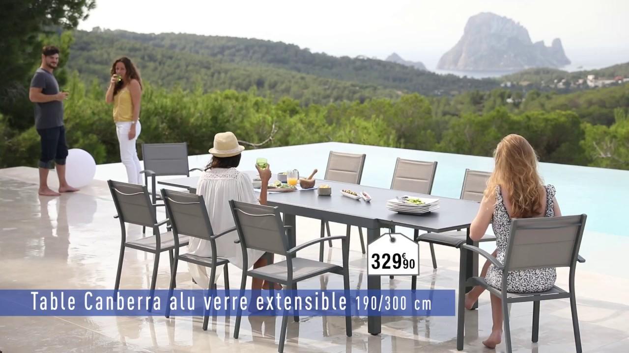 Ligne Canberra Hyba - Carrefour pour Table Et Chaise De Jardin Carrefour