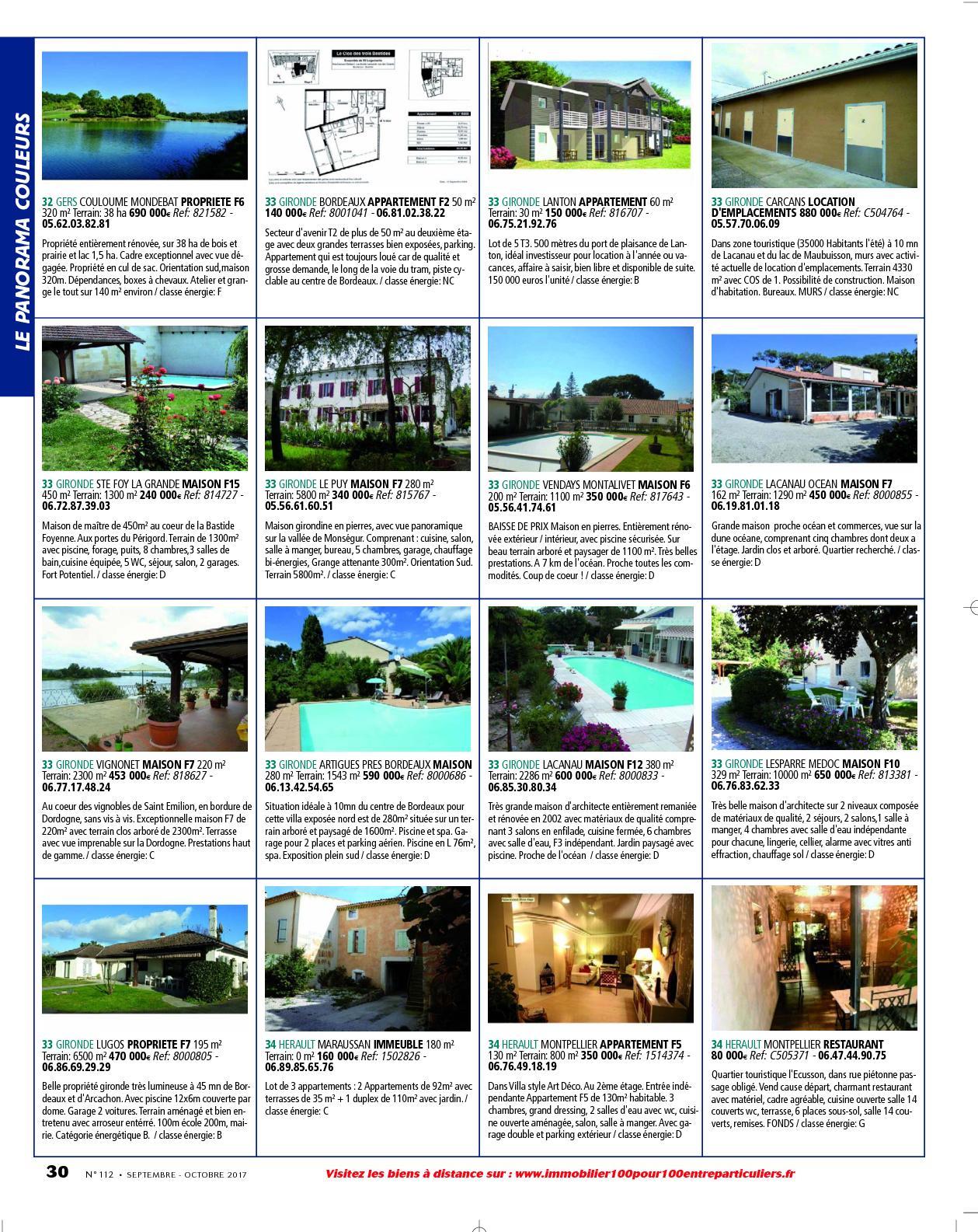 L'immobilier 100% Entre Particuliers - Appelimmo-N°112 ... à Location Maison Avec Jardin 34