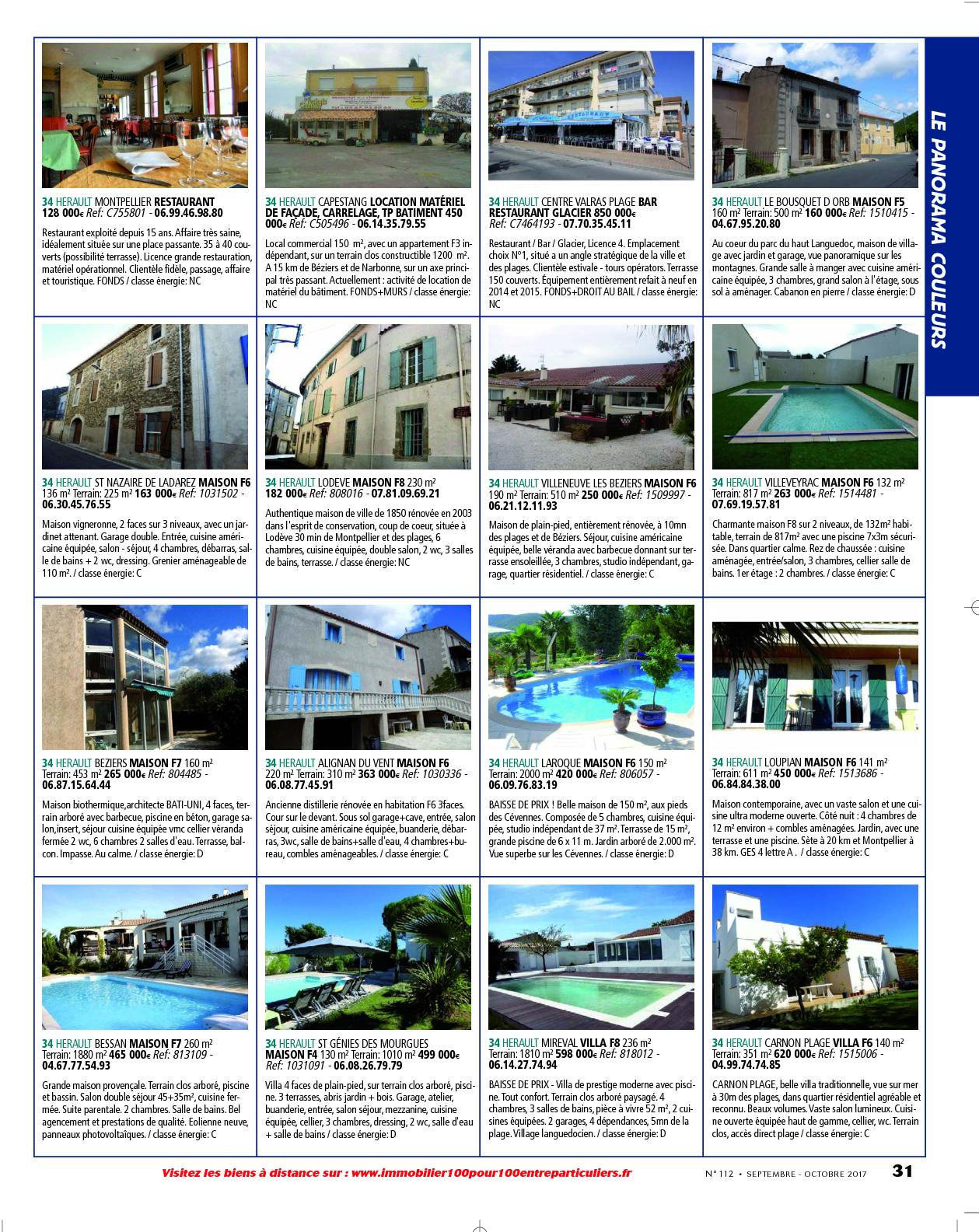 L'immobilier 100% Entre Particuliers - Appelimmo-N°112 ... encequiconcerne Location Maison Avec Jardin 34