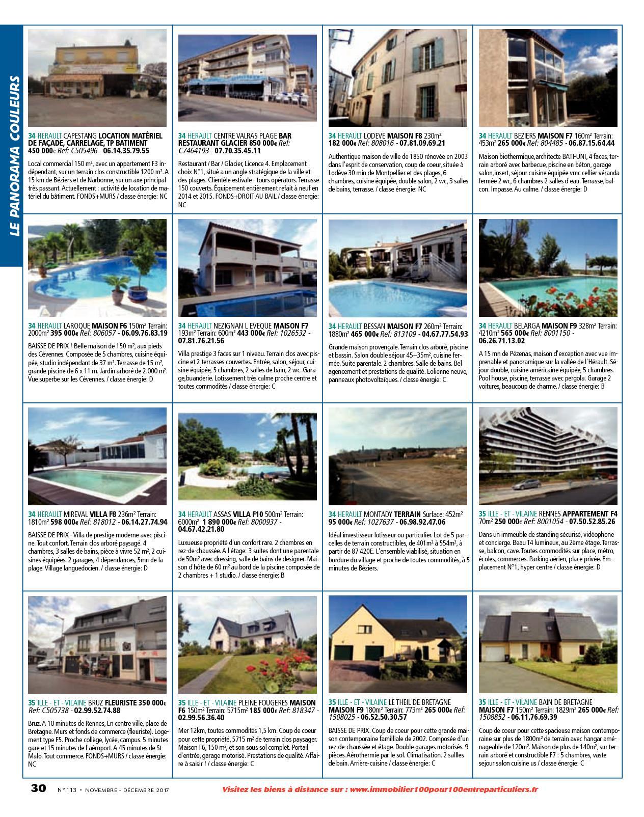 L'immobilier 100% Entre Particuliers - Appelimmo-N°113 ... serapportantà Location Maison Avec Jardin 34