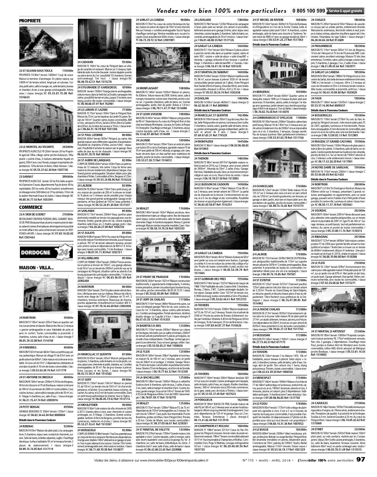 L'immobilier 100% Entre Particuliers – Appelimmo – N°115 ... serapportantà Location Maison Avec Jardin 34
