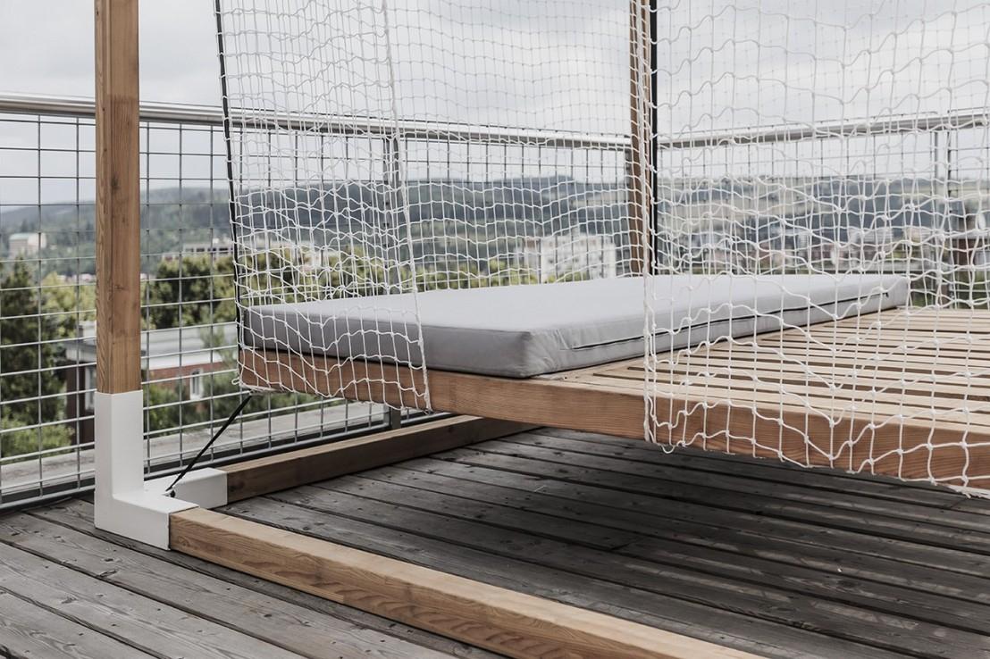 Lit De Jardin Hamac Suspendu En Cage Leva : Mobilier De ... concernant Lit Suspendu Jardin