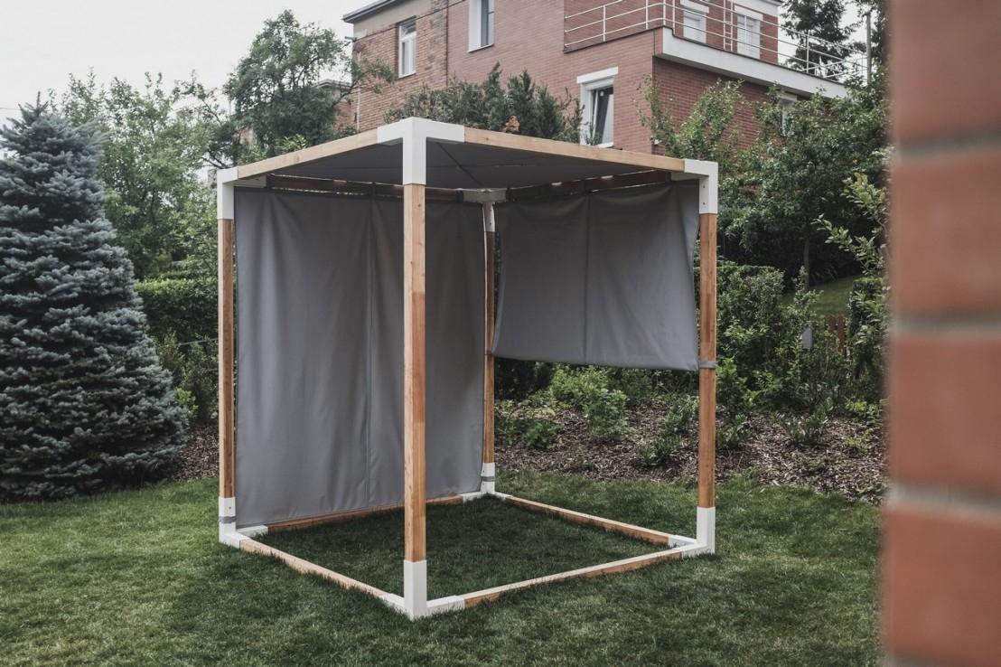 Lit De Jardin Hamac Suspendu En Cage Leva : Mobilier De ... serapportantà Lit Suspendu Jardin