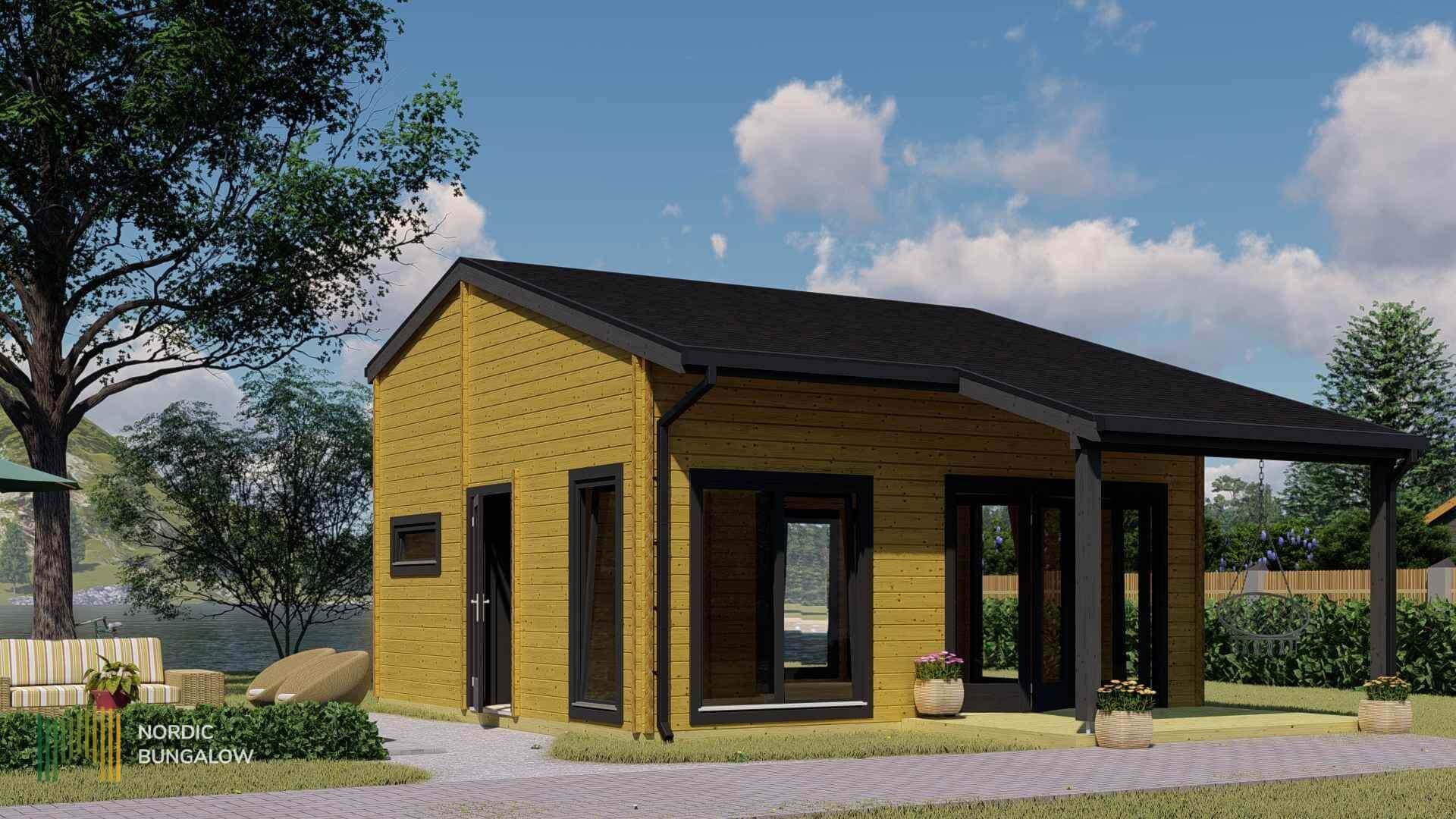 Little Lodge 70 S Avec Auvent dedans Location Rouleau De Jardin