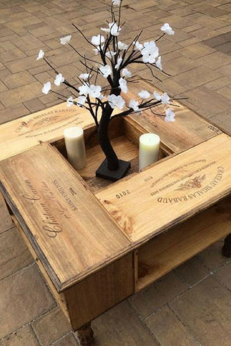 Living Room : Transformez Vos Caisses De Vin En Objets Déco ... intérieur Objet Decoration Jardin