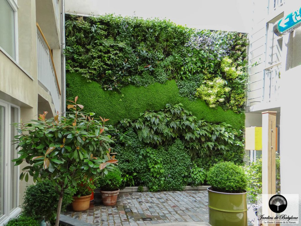 Living Wall : Jules And Jim Hotel Paris - Jardins De Babylone intérieur Amenagement Mur Jardin