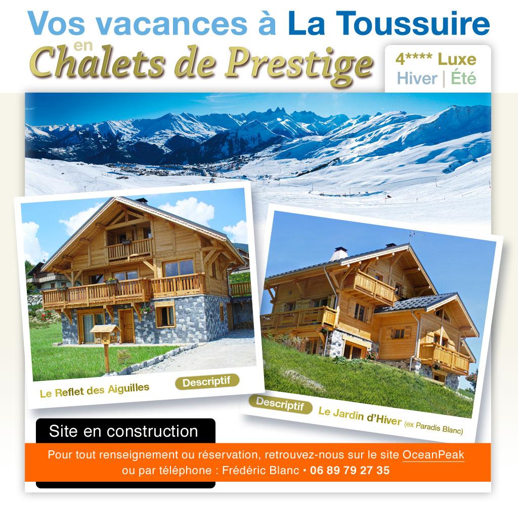 Location De Chalets À La Toussuire - Les Sybelles - Savoie à Chalet Le Jardin D Hiver La Toussuire