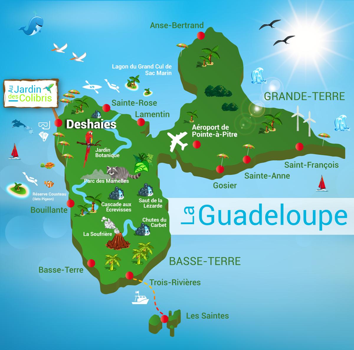 Location De Gite En Guadeloupe À Deshaies - Au Jardin Des ... pour Au Jardin Des Colibris