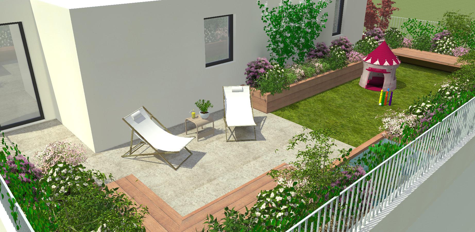 Logiciel Amã©Nagement Jardin Conception - Idees Conception ... à Créer Son Jardin En 3D Gratuit