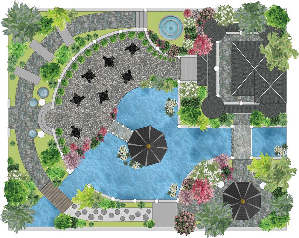 Logiciel De Plans Paysagers 2D Dao-Cao - Jardicad à Créer Un Plan De Jardin Gratuit