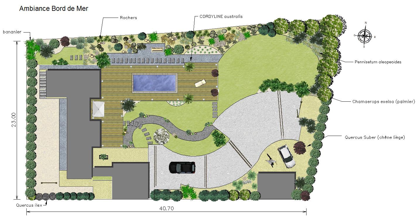 Logiciel De Plans Paysagers 2D Dao-Cao - Jardicad concernant Créer Son Jardin En 3D