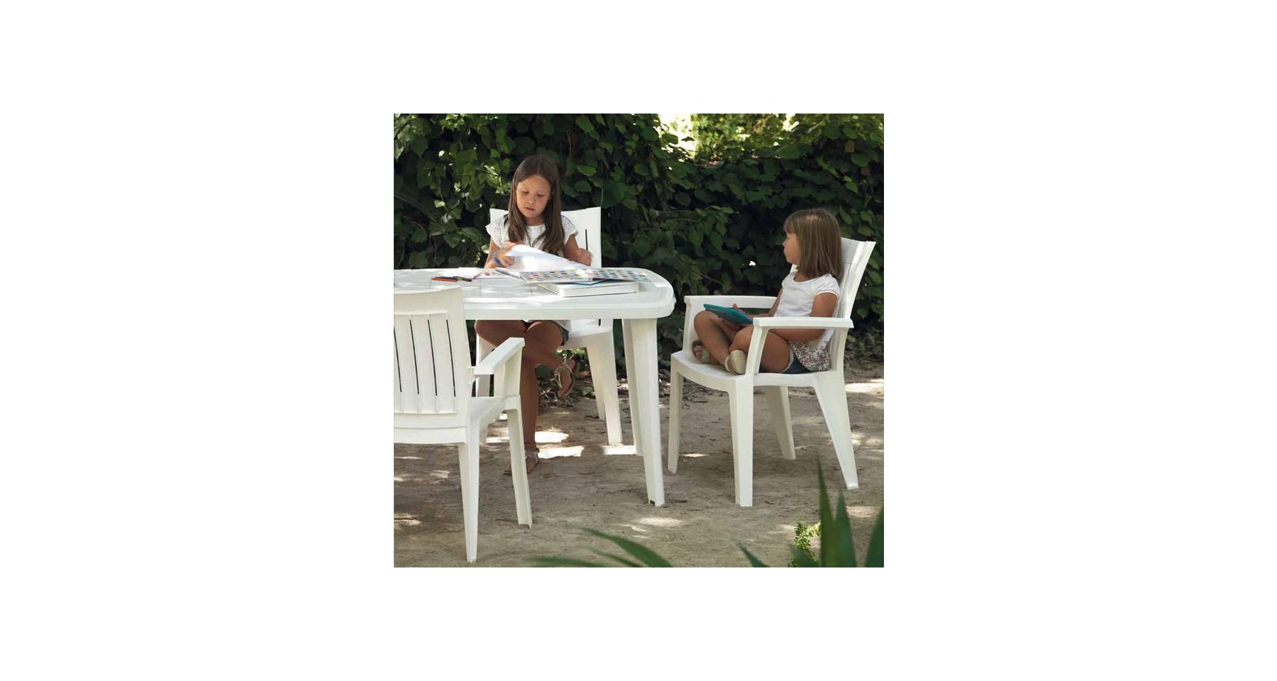 Lot 24 Tables De Jardin En Polypropylène Blanc Et Pieds ... intérieur Tonelle De Jardin