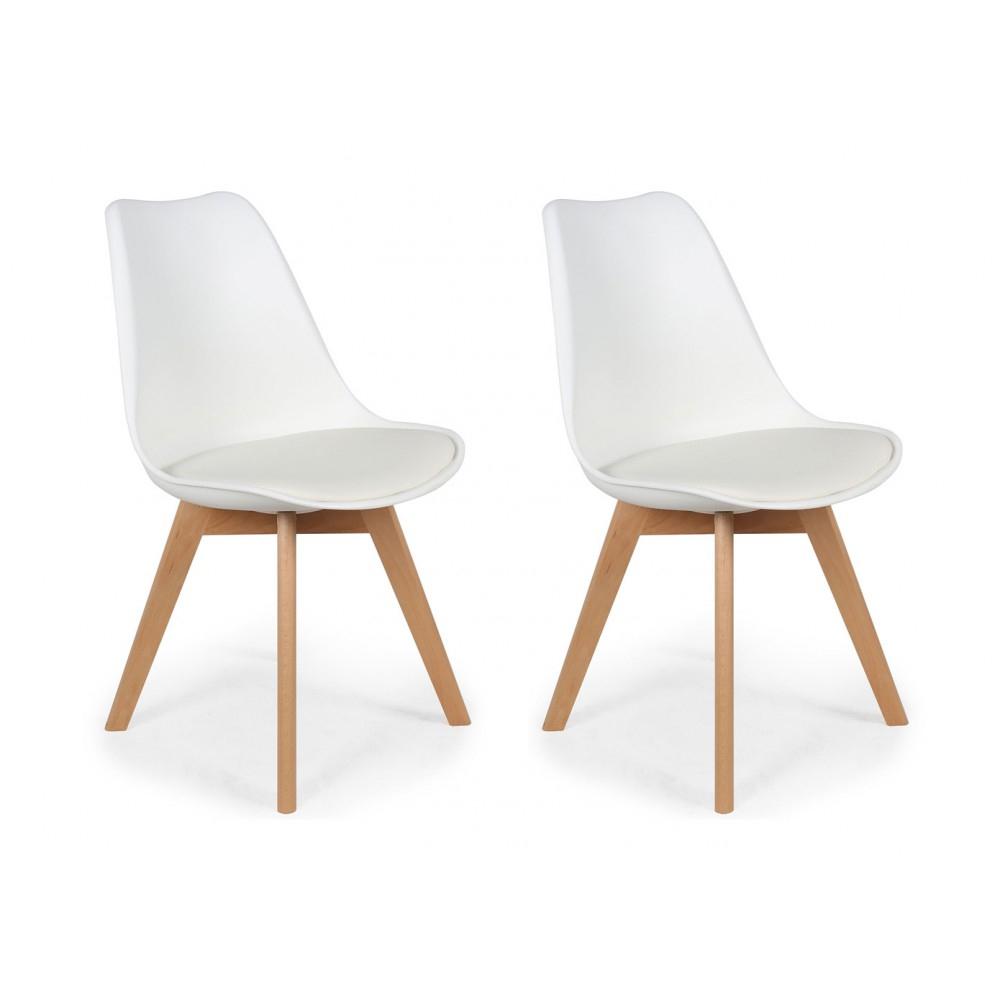 Lot De 2 Chaises Design Scandinaves Pas Cher Pieds En Bois ... destiné Coussin De Jardin Pas Cher
