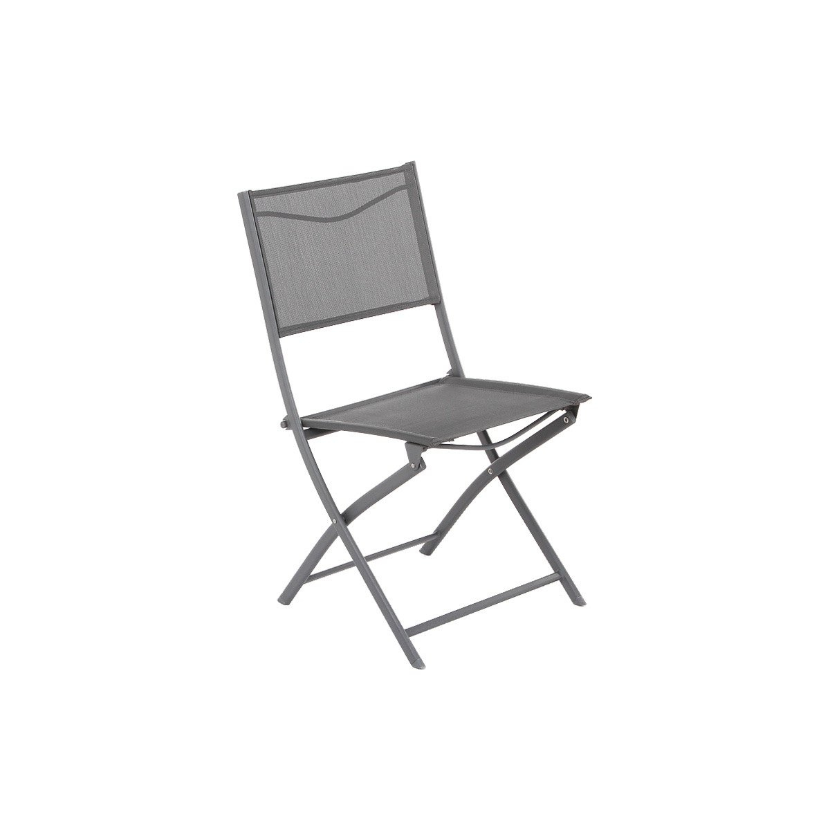 Lot De 2 Chaises Pliantes De Jardin Trinidad Coloris Gris 2 intérieur Chaise De Jardin Hesperide