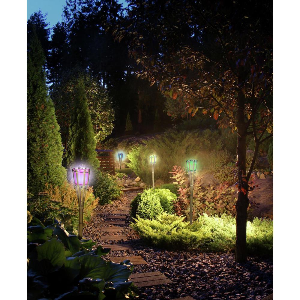 Lot De 2 Torches De Jardin - Déco Jardin - Unigro.be dedans Torches De Jardin