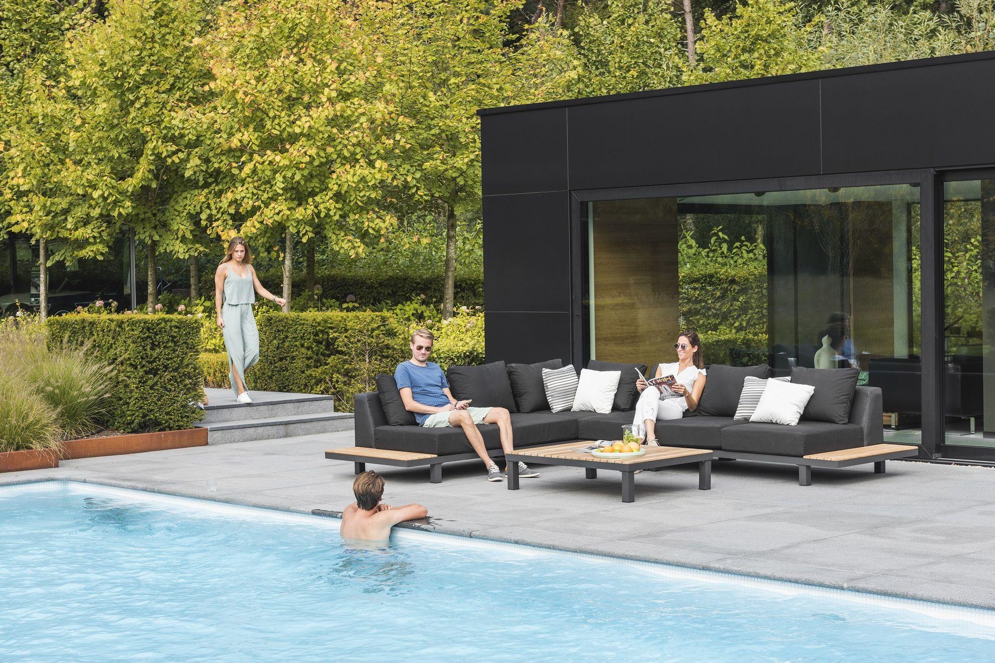 Loungeset Hawai Aluminium In Combinatie Met Teak | Gescova ... tout Salon De Jardin Hawai