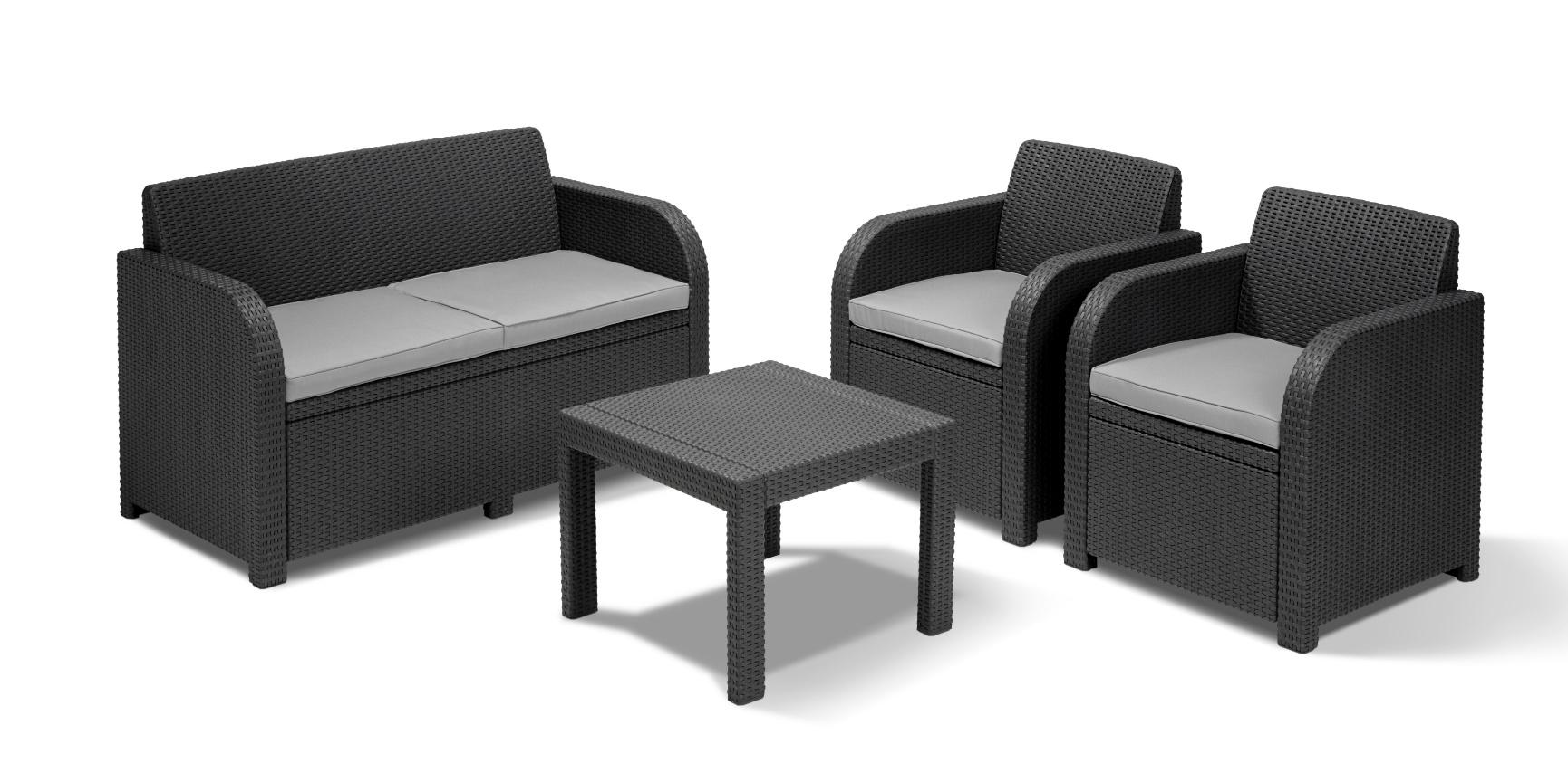 Loungeset | Lounge Sets - Allibert intérieur Salon De Jardin Allibert California