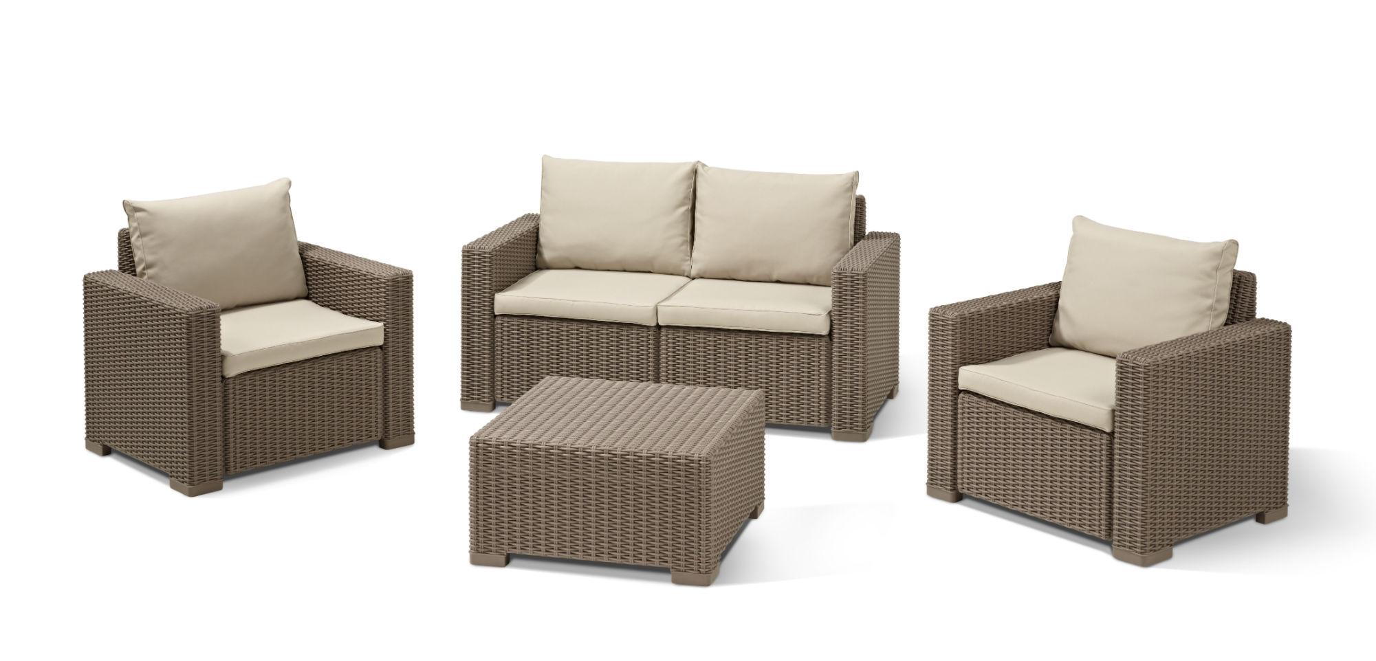 Loungeset | Lounge Sets - Allibert pour Salon De Jardin Allibert California