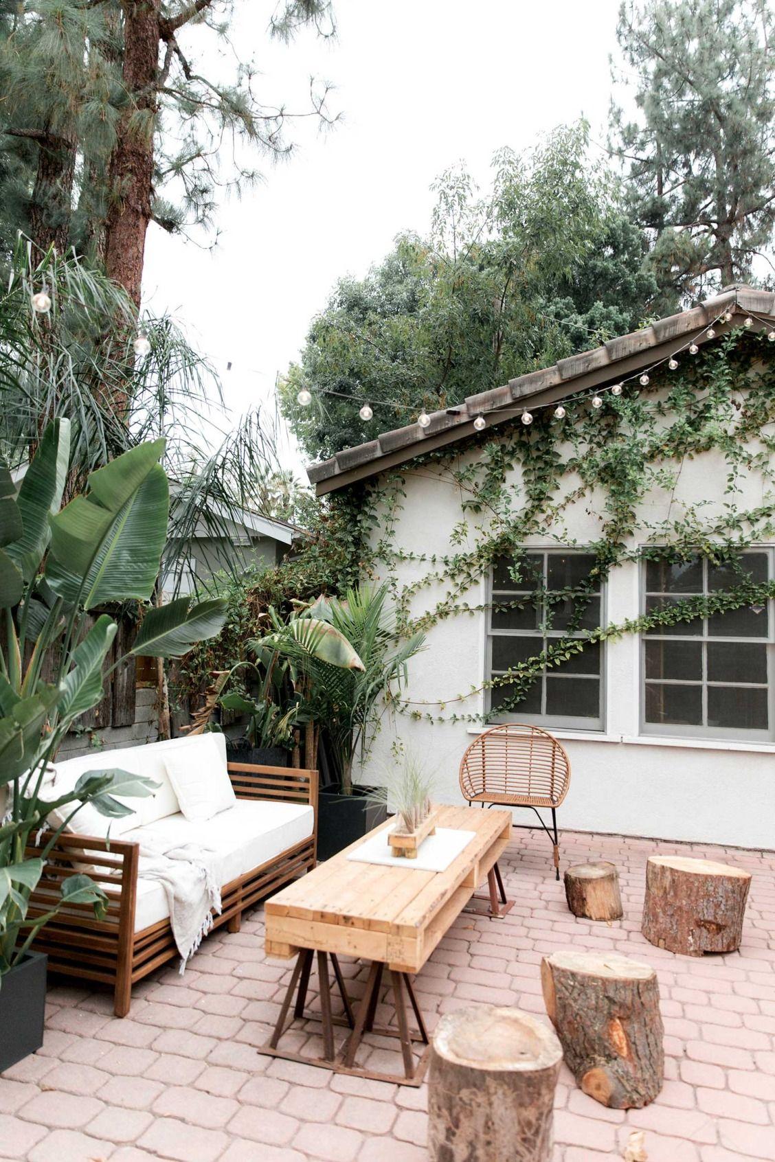 Lovely Minimalist Bohemian Patio. | Açık Hava Mekanları ... pour Bache Verte Jardin