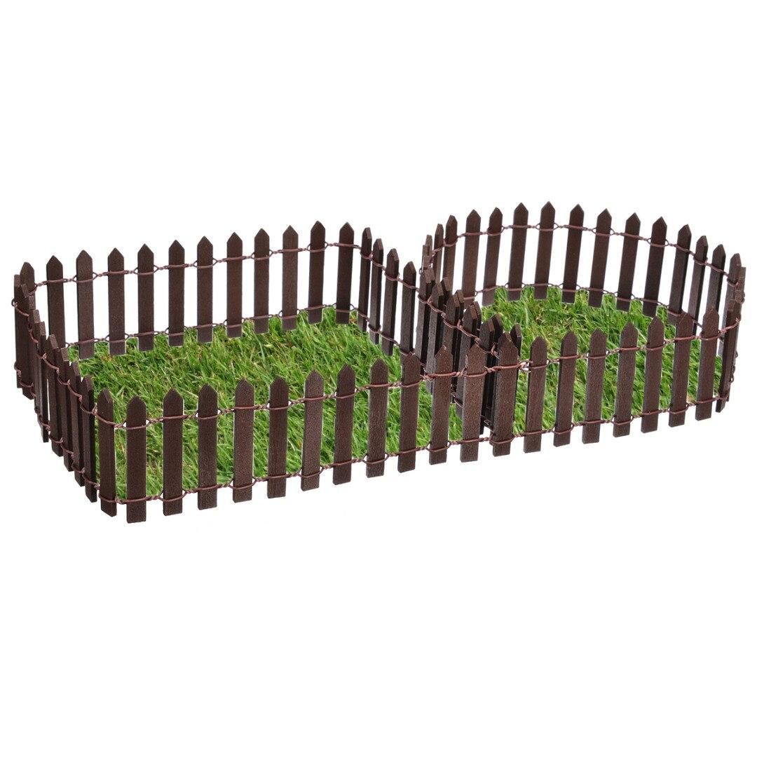 Low Price Miniature Bois Clôture Bricolage Fée Jardin Micro ... destiné Treillis Blanc Jardin