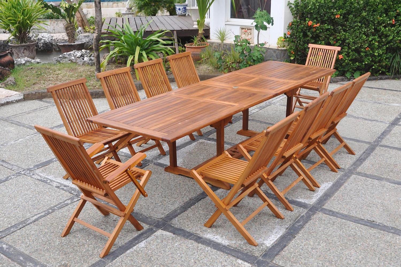 Lubok 10 Rectangle tout Table De Jardin 10 Personnes