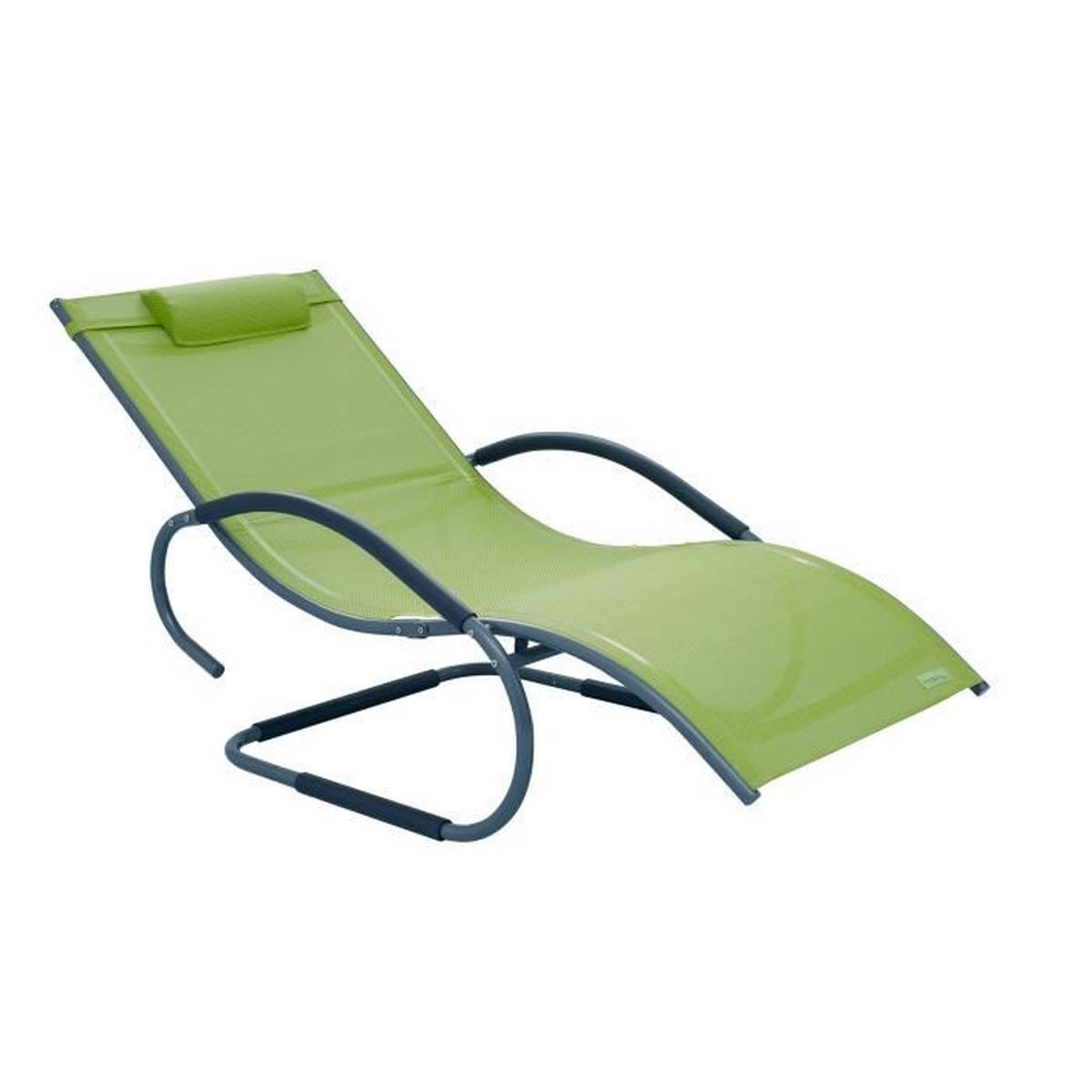 Luxus Xxl Chaise Longue De Jardin Avec Accoudoirs, Transat ... destiné Transat Jardin Pas Cher