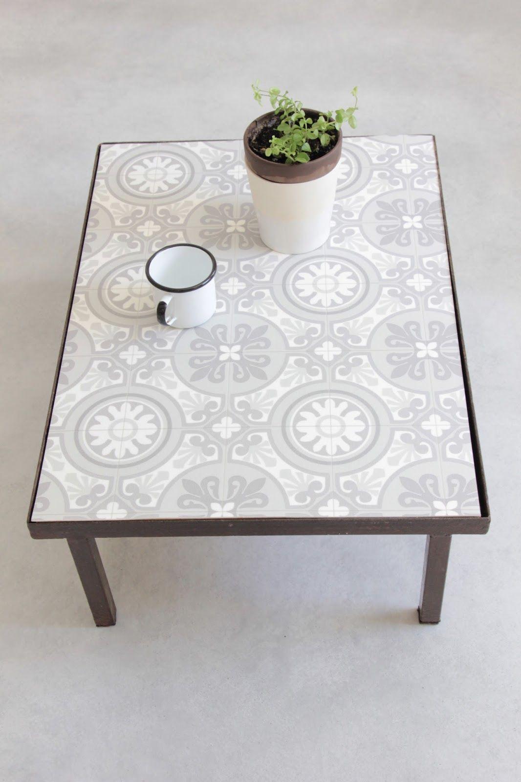 Ma Table Basse Façon Carreaux De Ciment Diy   Table À Manger ... destiné Table Carrelee Jardin