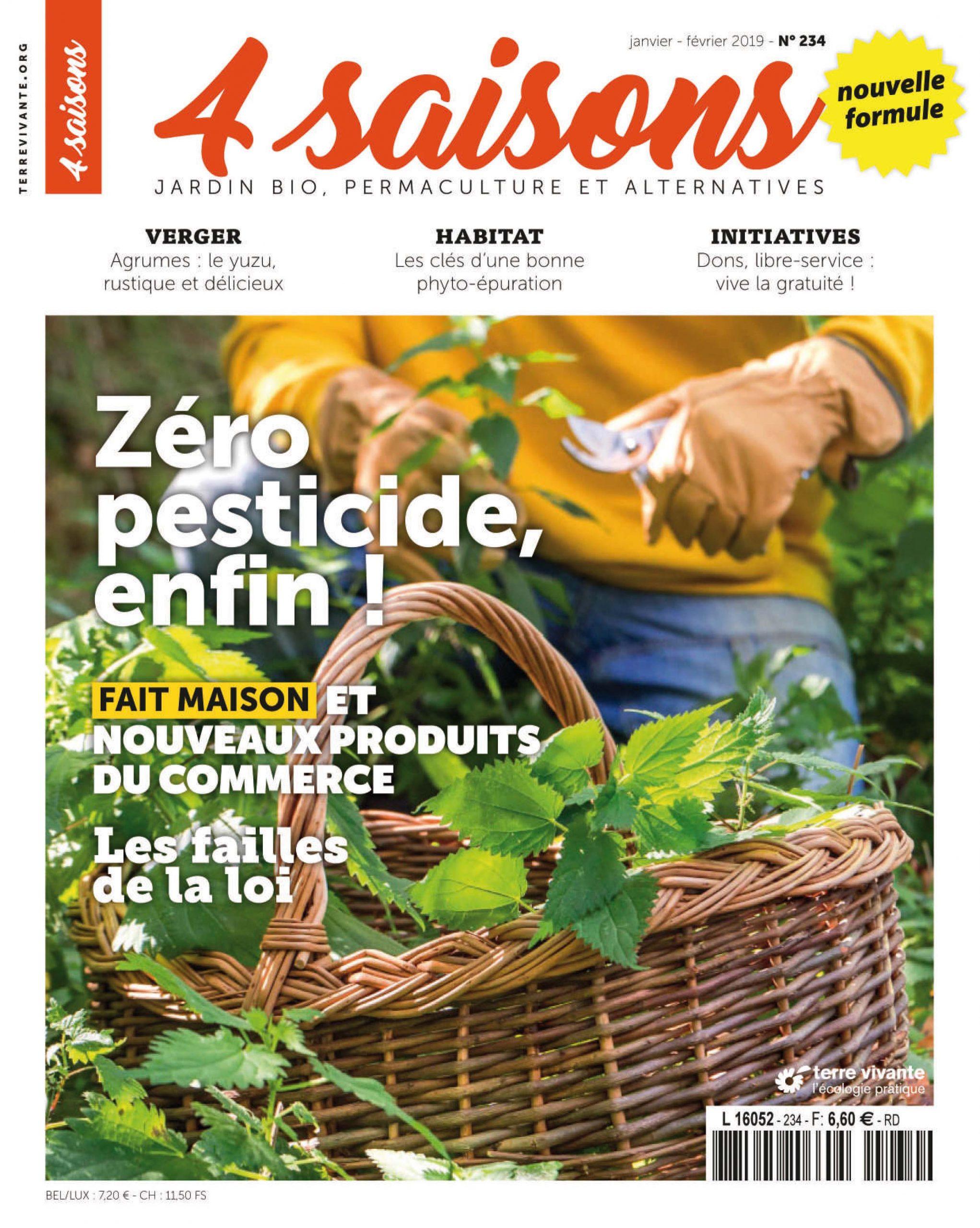 Magazine Les 4 Saisons Du Jardin Bio concernant Revue Jardin Facile