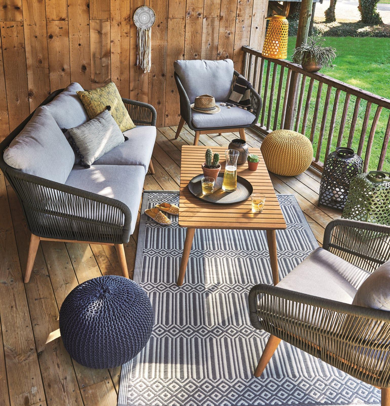 Magazine Lifestyle | Nos Idées Pour Aménager Votre Salon De ... pour Salon De Jardin En Pvc