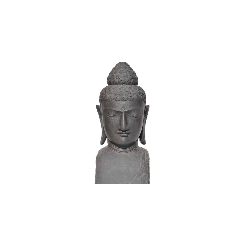 Magnifique Statue En Tête De Bouddha H98 Cm - Format Xxl -Colorie Noir -  Hydile destiné Statue Bouddha Exterieur Pour Jardin