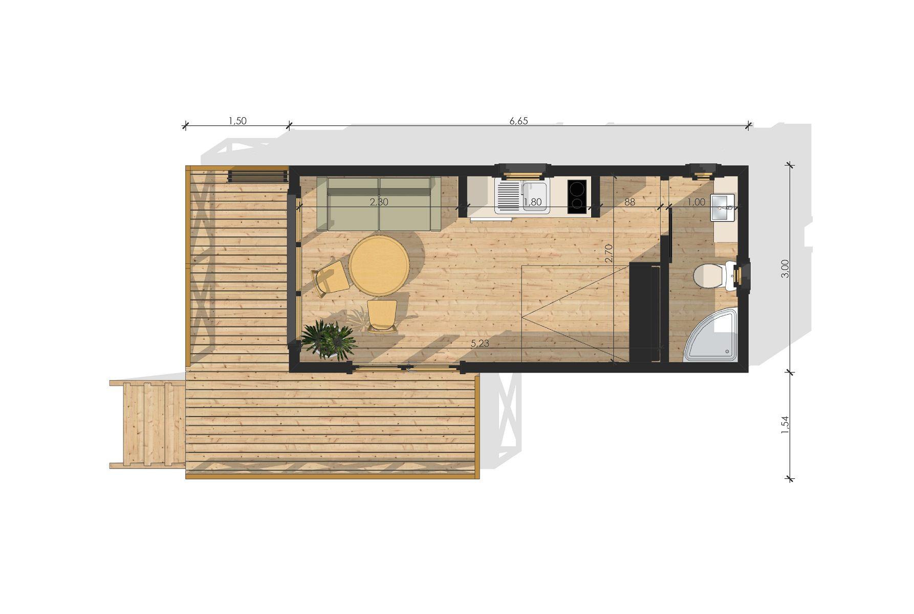 Maison De Jardin Avec Ossature Bois 20 M² Yvelines 20 M² ... encequiconcerne Studio De Jardin Prix