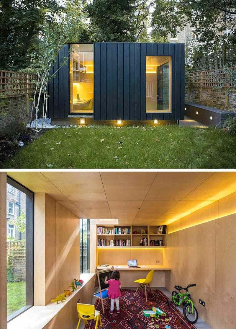 Maison De Jardin Habitable- 14 Abris Aménagés En Bureaux Ou ... concernant Studio De Jardin Habitable