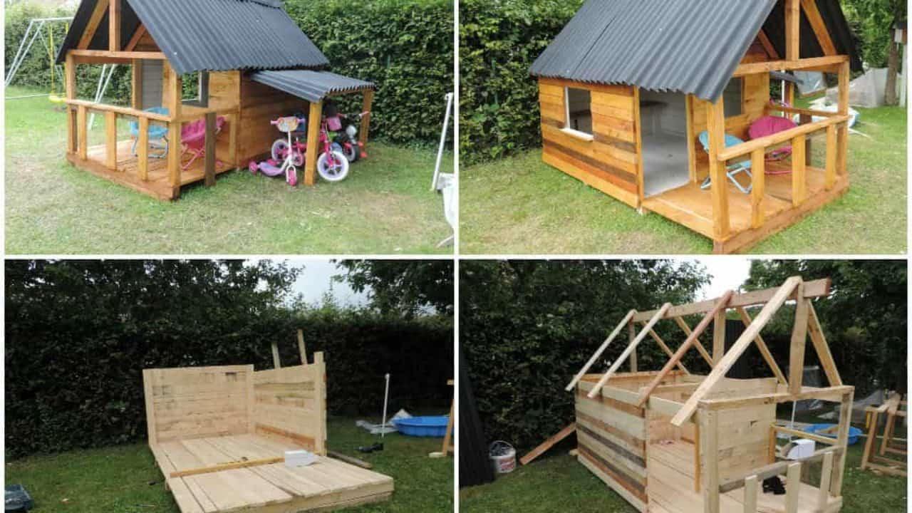 Maison De Jardin Pour Enfant / Pallets Kids House • 1001 Pallets à Maison De Jardin Pour Enfants