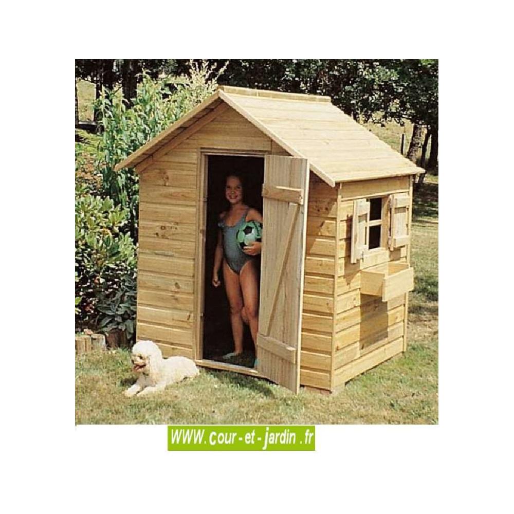 Maison Jardin Enfant ▷ Maisonnette, Cabane Jardin Enfant ... serapportantà Cabane De Jardin Enfant Bois