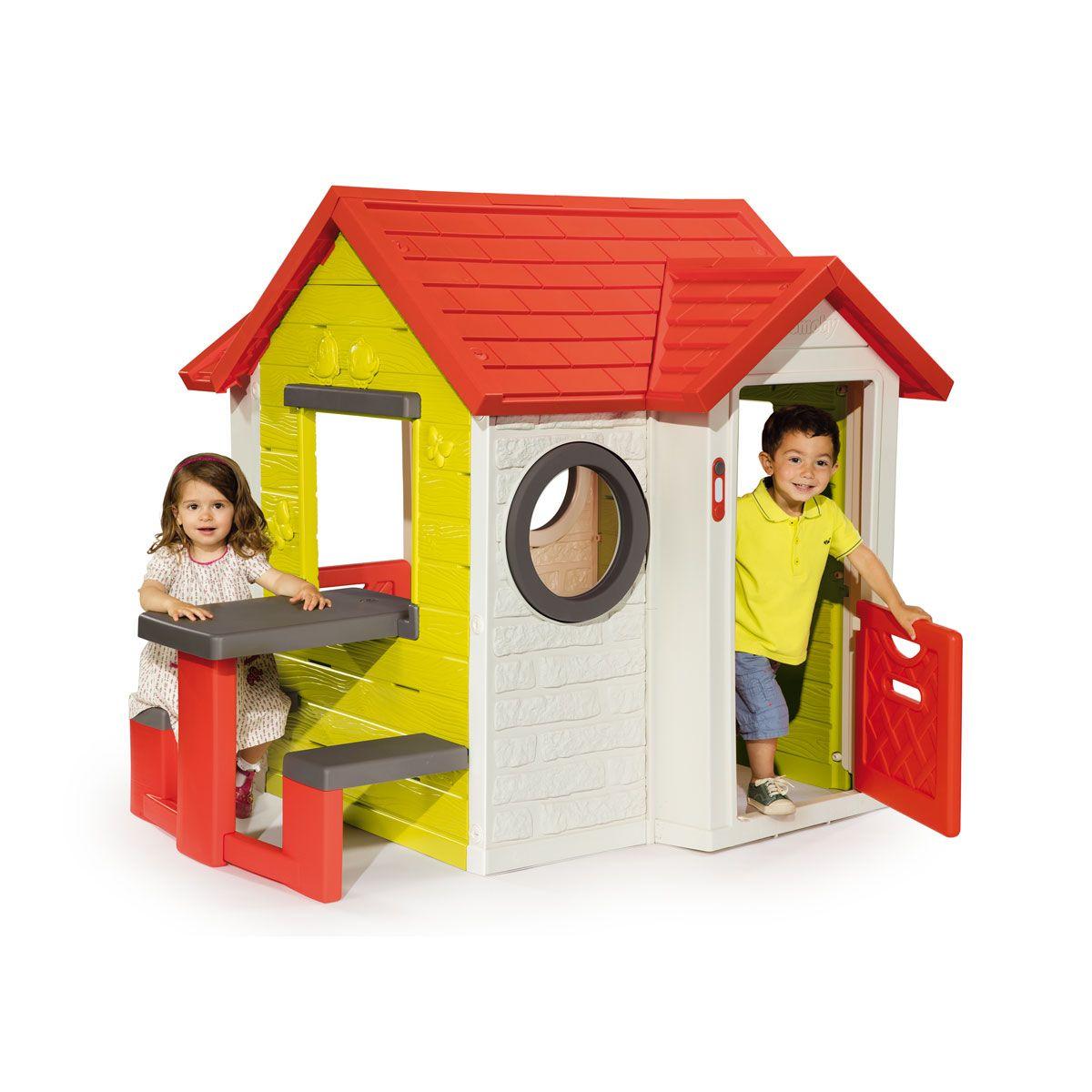 Maison My House Et Table De Pique-Nique Smoby Pour Enfant De ... serapportantà Maison De Jardin Smoby