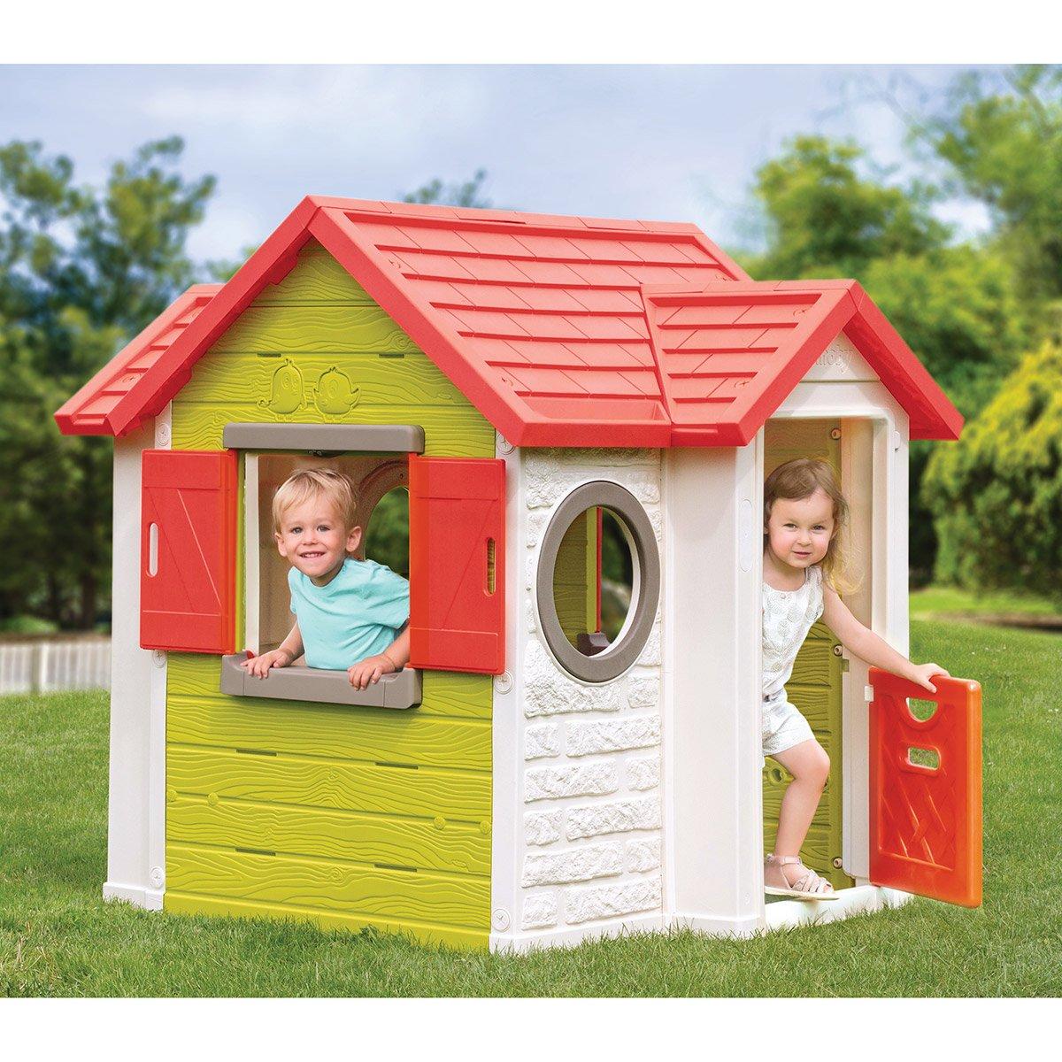 Maison My Neo House - Smoby - Maisons, Toboggans Et Jeux D ... concernant Maison Jardin Smoby